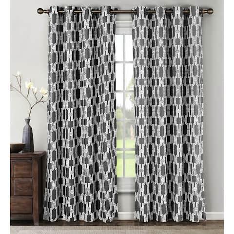 Window Elements Wesley Linen Blend 84-inch Grommet Curtain Panel Pair - 54 x 84