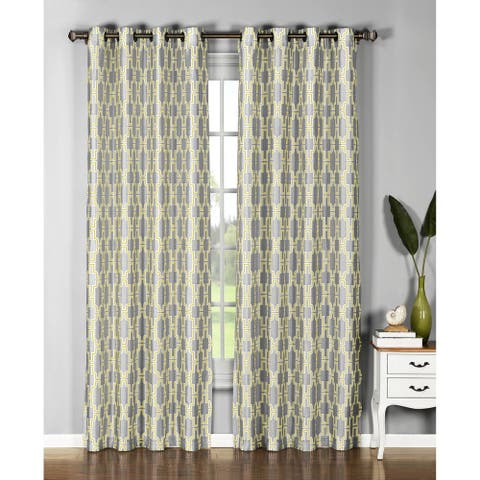 Window Elements Wesley 96-inch Extra Wide Grommet Curtain Panel - 54 x 96