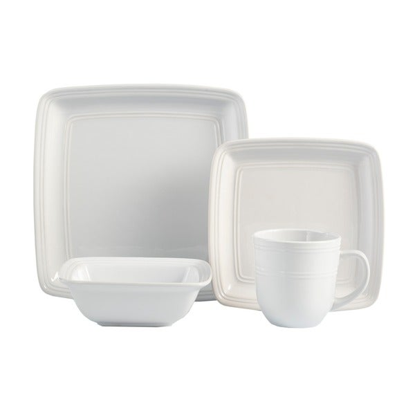 American Atelier Earthenware 16-piece Square Dinnerware Set (Service for 4)  sc 1 st  Overstock.com & American Atelier Earthenware 16-piece Square Dinnerware Set (Service ...