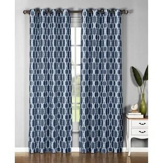 Window Elements Wesley Faux-silk 96-inch Grommet Curtain Panel Pair