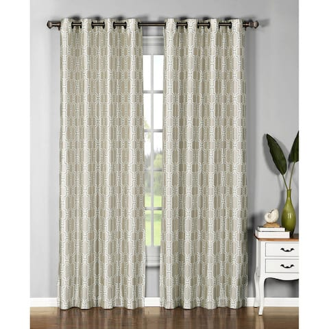 Window Elements Wesley Sheer Grommet Curtain Panel Pair - 54 x 96