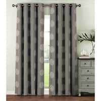 Window Elements Venice 96-inch Extra Wide Embroidered Grommet Curtain Panel (Set of 2) - 54 x 96