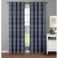 Window Elements Cotton 96-inch Extra-wide Juneau-printed Grommet Curtain Panel Pair - 52 X 96