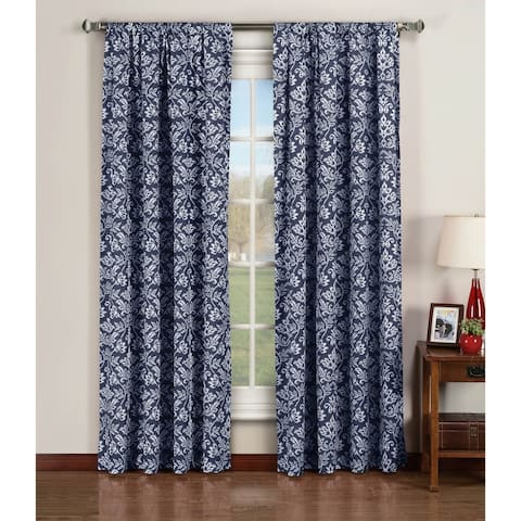 Window Elements Valencia Printed 96-inch Extra-wide Rod Pocket Curtain Panel Pair - 52 x 96