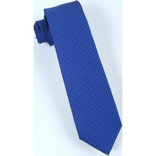 Brio Men's Blue/Orange Patterned Tie