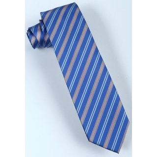 Brio Men's Blue Striped Dress Tie