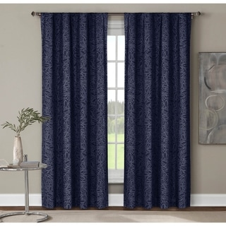 Window Elements Leila Printed Extra-wide 84-inch Rod Pocket Curtain Panel (Set of 2) - 104 x 84