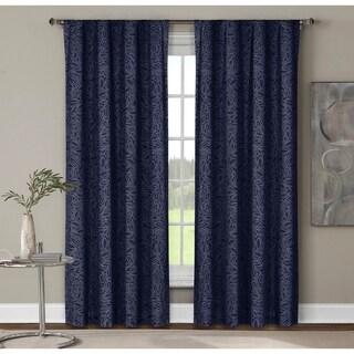 "Window Elements Leila Printed Rod Pocket Curtain Panel Pair - 52"" w x 96"" l"