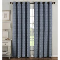 Window Elements Greek Key Polyester and Cotton 84-inch Extra-wide Grommet Curtain Panels (Set of 2) - 54 x 84