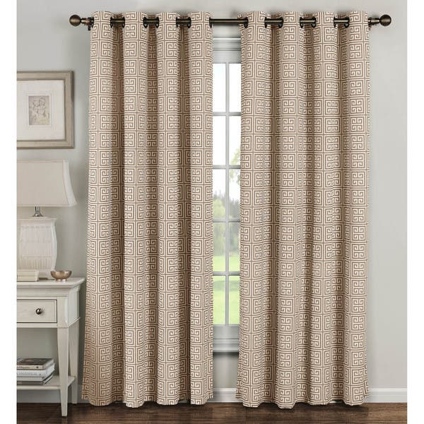 Window Elements Greek Key Polyester And Cotton 84 Inch