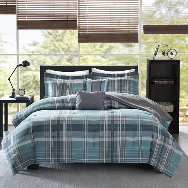 Intelligent Design Joe Aqua Printed 5-piece Comforter Set