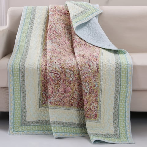 Barefoot Bungalow Palisades Pastel Quilted Throw
