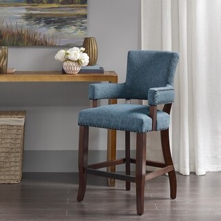 Madison Park Parler Blue Arm 26-inch Counter Stool