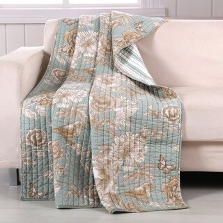 Barefoot Bungalow Naomi Spa Quilted Reversible Throw