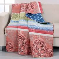 Barefoot Bungalow Hillsborough Coral Throw