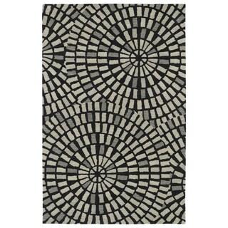 Hand-Tufted Lola Mosaic Black Cobblestone Wool Rug (8' x 11')