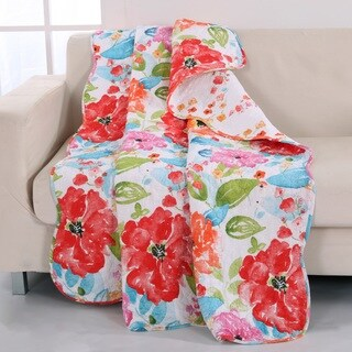 Barefoot Bungalow Esme Floral Reversible Quilted Throw
