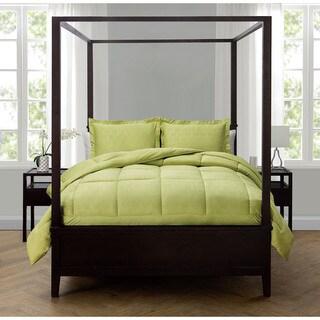 Caribbean Joe Pineapple Embossed Down Alternative Comforter Set