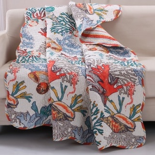 Barefoot Bungalow Atlantis Reversible Quilted Throw