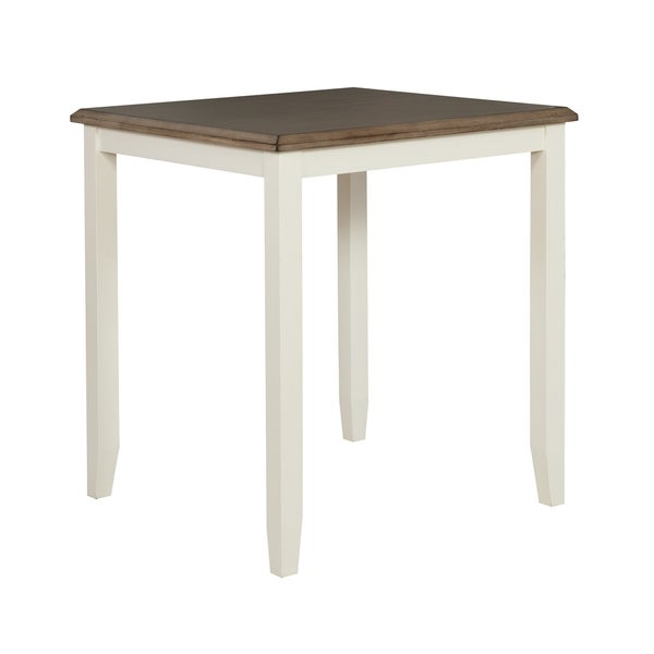 Shop Jane Weathered White Wooden Pub Table