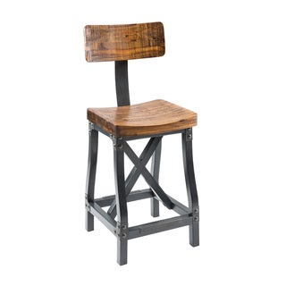INK+IVY LancasterAmber/ Graphite Barstool with Back