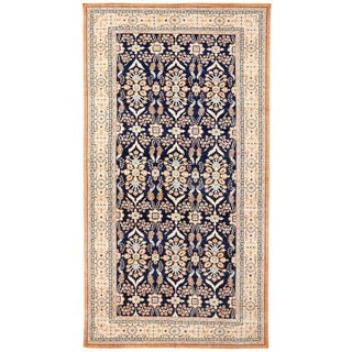 Herat Oriental Afghan Hand-knotted Vegetable Dye Oushak Wool Rug (10'7 x 20'3)