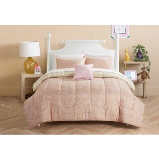 Formula Shimmer Gold 8-piece Bed in a Bag with Sheet Set