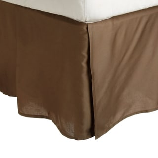 Superior 300 Thread Count 100% Premium Combed Cotton Pleated Solid Bed Skirt