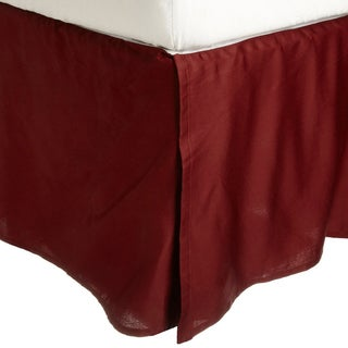 Superior 300 Thread Count 100-percent Premium Combed Cotton Pleated Solid Bed Skirt