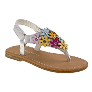 Laura Ashley Girls' Multicolor Polyurethane Thong Sandals