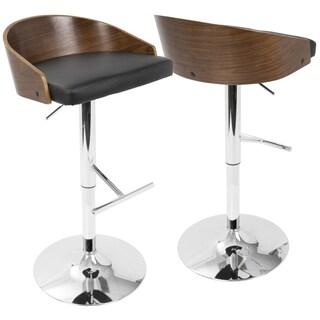 Lumisource Chianti Multicolored Wood/Metal Mid-Century Modern Adjustable Barstool