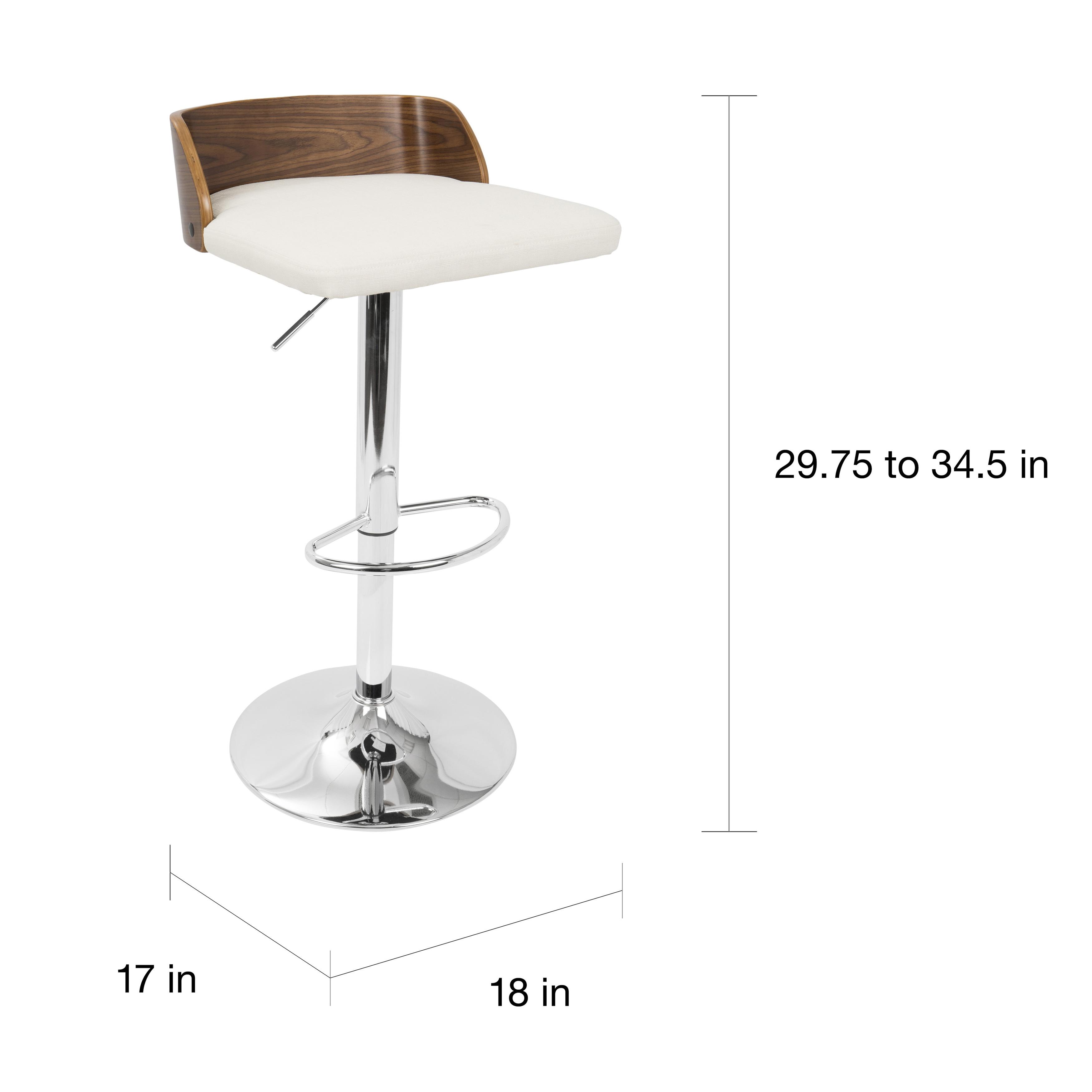 Miraculous Carson Carrington Marstrand Walnut Wood And Chrome Mid Century Modern Adjustable Barstool Evergreenethics Interior Chair Design Evergreenethicsorg