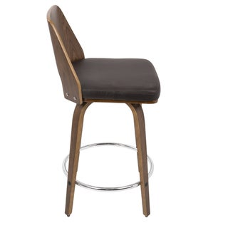Link to LumiSource Trilogy Mid-century Modern Counter Stool Similar Items in Dining Room & Bar Furniture