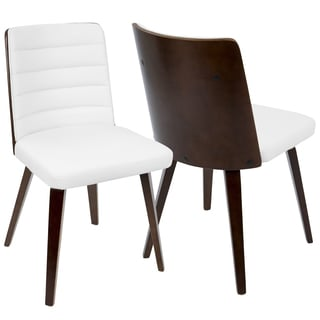 LumiSource Francesca Multicolor Wood/Faux-leather Mid-Century Modern Dining Chair