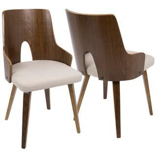 LumiSource Ariana Mid-Century Modern Dining Chairs (Set of 2)