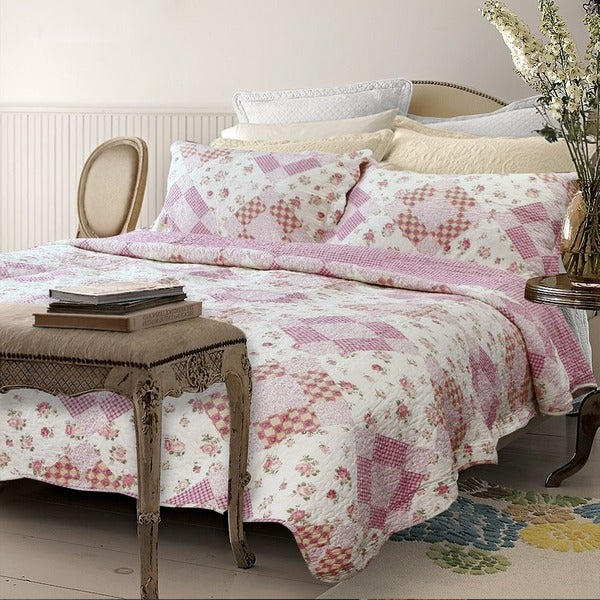 Qbedding Suri Cotton 3-Piece Quilt Set