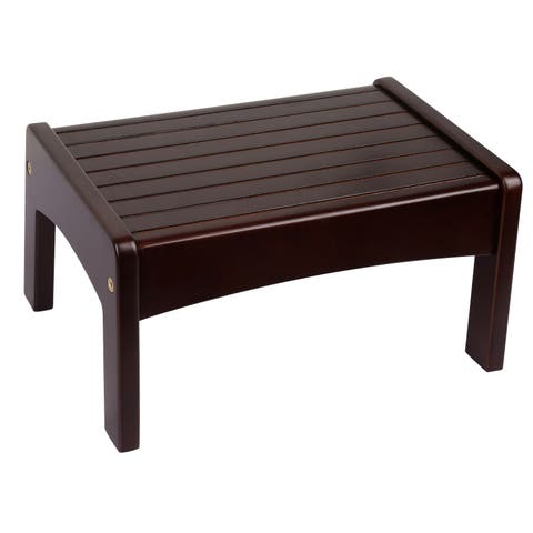 Levels of Discovery Espresso Slatted Step Stool