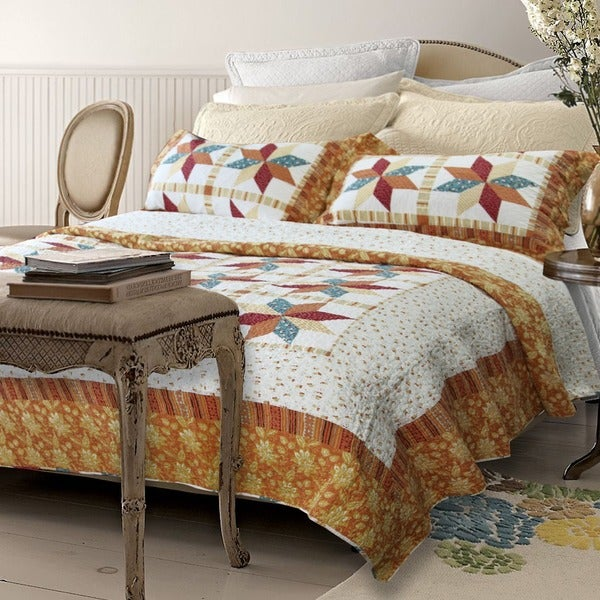 Qbedding Angie Cotton 3-Piece Quilt Set