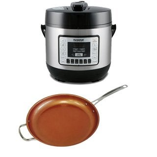 NuWave Electric Pressure Cooker As Seen On TV with 12-inch Ceramic Fry Pan
