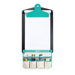 U Play Childrens Wall Art Easel, Premium Chalk Surface and Paper Roll, Art Accessories Included, 17 x 4.72 x 25.39 Inches