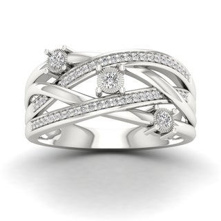 Sterling Silver 1/4ct TDW Diamond Fashion Ring