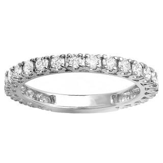 10k White Gold 1ct TDW White Diamond Eternity Wedding Band (H-I, I1-I2)