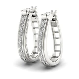 Sterling Silver 1/5ct Diamond Hoop Earrings