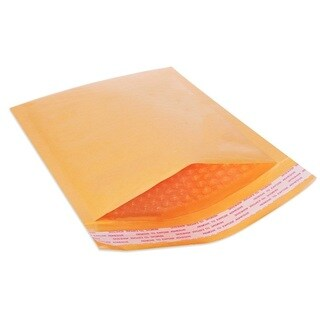 Yellow Kraft 4-inch x 8-inch Self-seal Bubble Mailers (Case of 25)