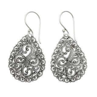 Handmade Sterling Silver 'Divine Femininity' Earrings (Indonesia)