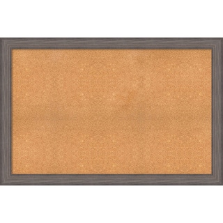 Framed Cork Board, Choose Your Custom Size, Country Barnwood Wood