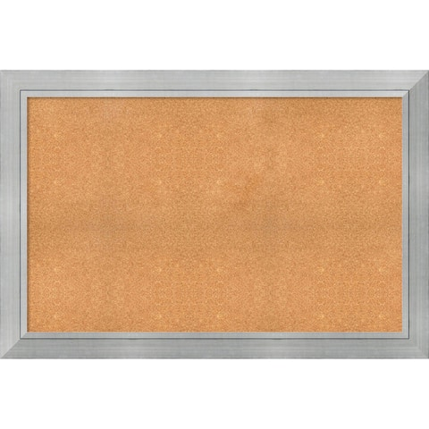 Framed Cork Board, Choose Your Custom Size, Romano Silver Wood