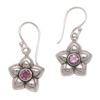 Handcrafted Sterling Silver 'October Marigold' Tourmaline Earrings (Indonesia)