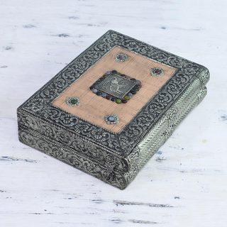 Handcrafted Brass 'Revelations' Jewelry Box (India)