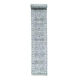 1800getarug XL Runner Mamluk Design Undyed Natural Wool Handmade Rug (2'9x18'0)